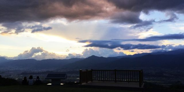 てっぺん公園の夕焼け