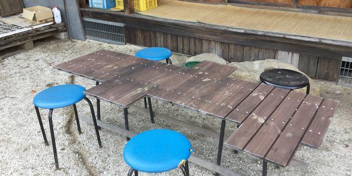 手作りバーベキューテーブル