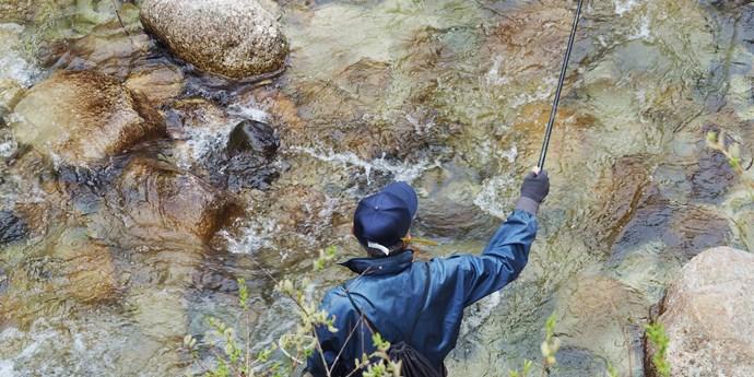 大平宿の釣り